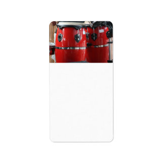 Bright red conga drums photo.jpg custom address label