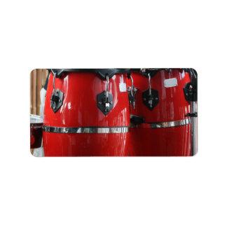 Bright red conga drums photo.jpg custom address labels