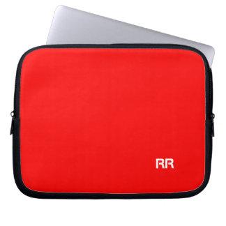 Bright Red Custom Laptop Bag Laptop Computer Sleeves