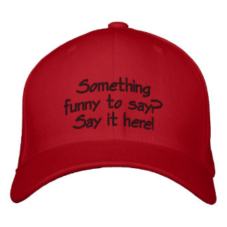 Bright red customizable cap embroidered baseball caps