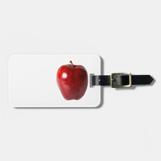 Bright Red Delicious Apple Travel Bag Tag