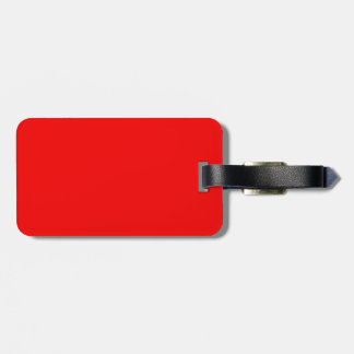 bright red DIY custom background template Bag Tag