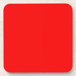 bright red DIY custom background template Beverage Coaster
