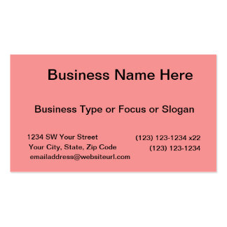 bright red DIY custom background template Business Card