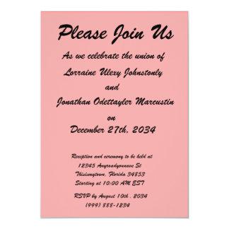 bright red DIY custom background template 5x7 Paper Invitation Card