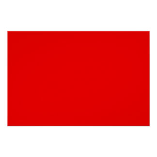 bright red DIY custom background template Poster