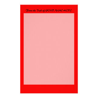 bright red DIY custom background template Stationery
