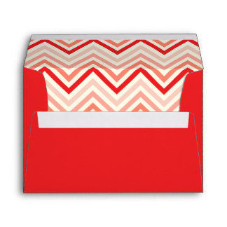 Bright Red envelope with chevron pattern
