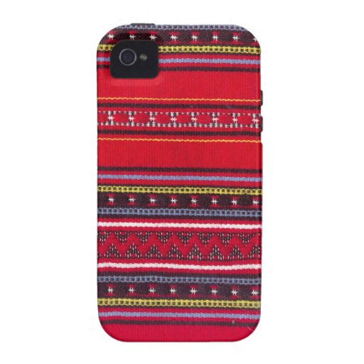 Bright red fabric iPhone 4/4S case