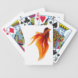 bright red fish bicycle playing cards