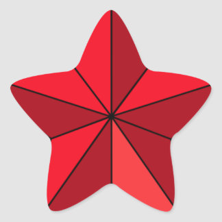 Bright Red Five-Pointed Star Star Sticker