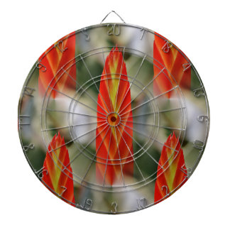 Bright Red Flaming Sword Spike Dartboard With Darts