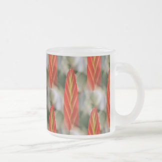Bright Red Flaming Sword Spike Frosted Glass Coffee Mug