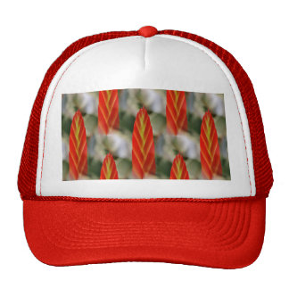 Bright Red Flaming Sword Spike Trucker Hat