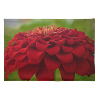 Bright Red Flower (Gift) Cloth Placemat