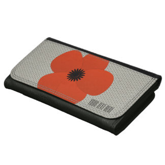 Bright Red Flower Holiday Season Texture Wallet