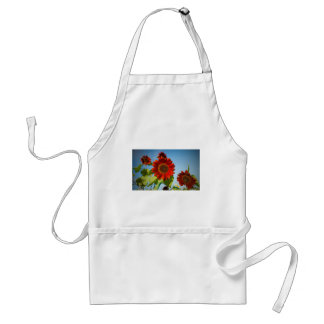 Bright Red Flowers in the Sun Adult Apron