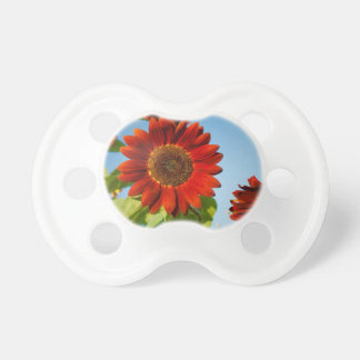 Bright Red Flowers in the Sun BooginHead Pacifier