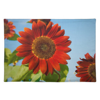 Bright Red Flowers in the Sun Placemat