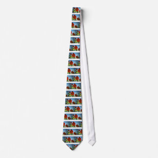 Bright Red Flowers in the Sun Tie
