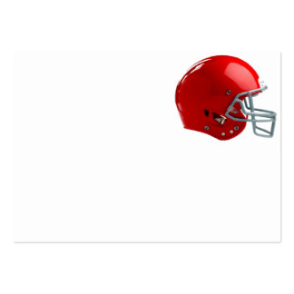 Bright Red Football Helmet Business Card Templates