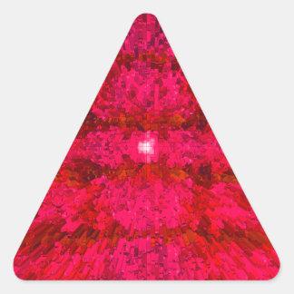 Bright Red Futurism Modern Textured Pattern Design Triangle Sticker