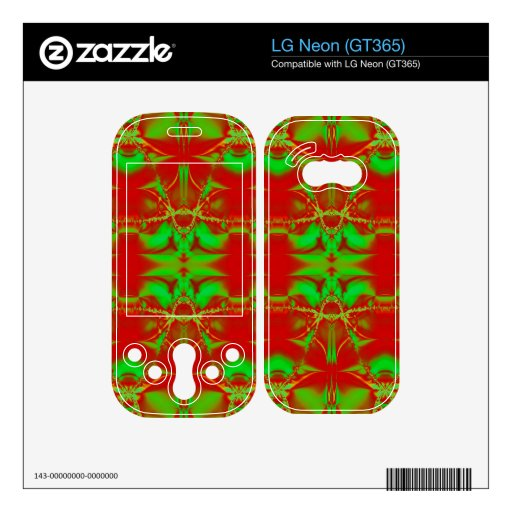 bright red green Christmas Skins For The LG Neon