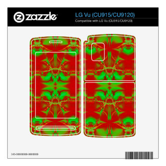 bright red green Christmas Decals For LG Vu