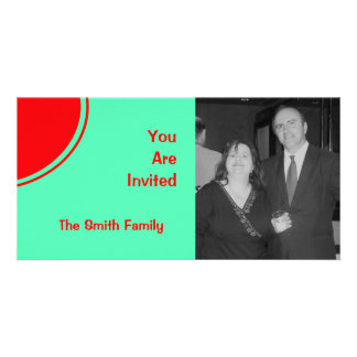 Bright Red Green Mod Party Invite