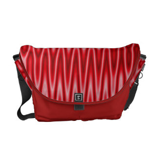 Bright red groovy pattern messenger bags