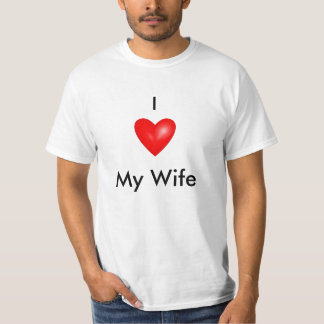 bright-red-heart, I , My Wife T-Shirt