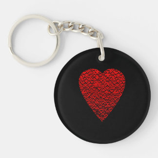 Bright Red Heart Picture. Acrylic Key Chains