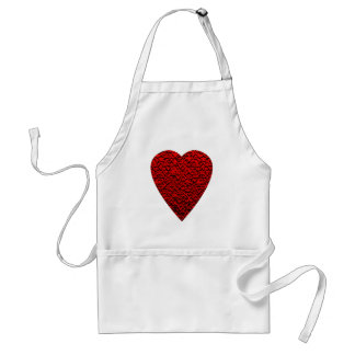Bright Red Heart Picture. Adult Apron