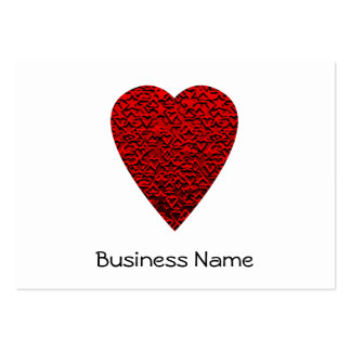 Bright Red Heart Picture. Large Business Cards (Pack Of 100)