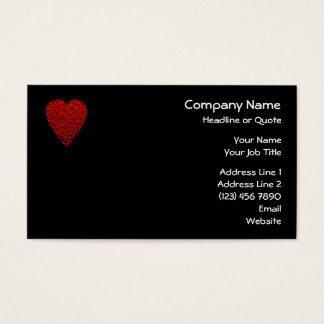 Bright Red Heart Picture. Business Card