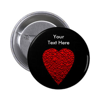 Bright Red Heart Picture. 2 Inch Round Button