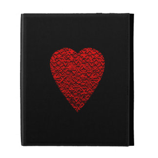 Bright Red Heart Picture. iPad Folio Covers