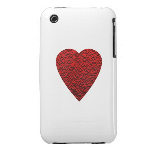 Bright Red Heart Picture. Case-Mate iPhone 3 Cases