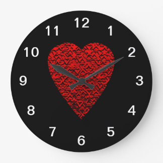 Bright Red Heart Picture. Clocks