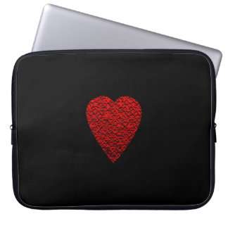 Bright Red Heart Picture. Computer Sleeve