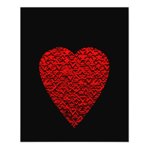 Bright Red Heart Picture. Custom Flyer