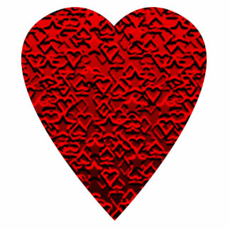 Bright Red Heart Picture. Cutout