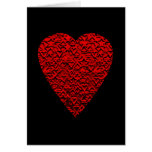 Bright Red Heart Picture. Greeting Card
