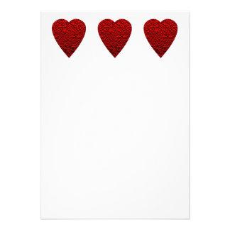 Bright Red Heart Picture Custom Invites