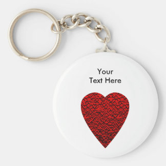 Bright Red Heart Picture. Keychains