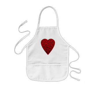 Bright Red Heart Picture. Kids' Apron