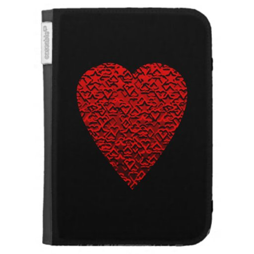 Bright Red Heart Picture. Kindle 3 Cases