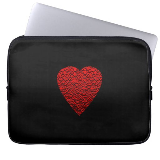 Bright Red Heart Picture. Laptop Computer Sleeves