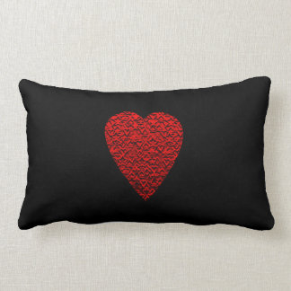 Bright Red Heart Picture. Lumbar Pillow