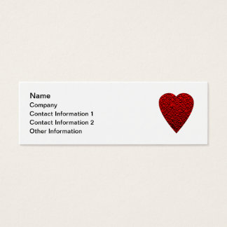 Bright Red Heart Picture. Mini Business Card